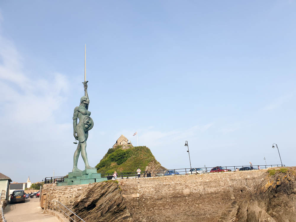 Statue of Verity in ilfracombe from the water
