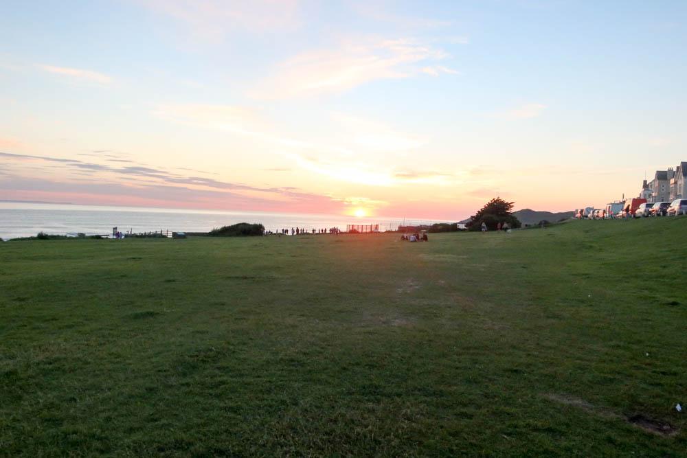 Sunset view of Woolacombe Beach