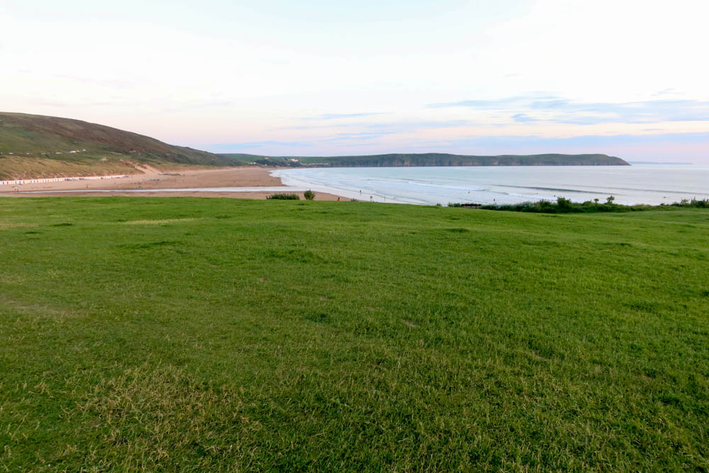 Sunset view of baggy point, woolacombe
