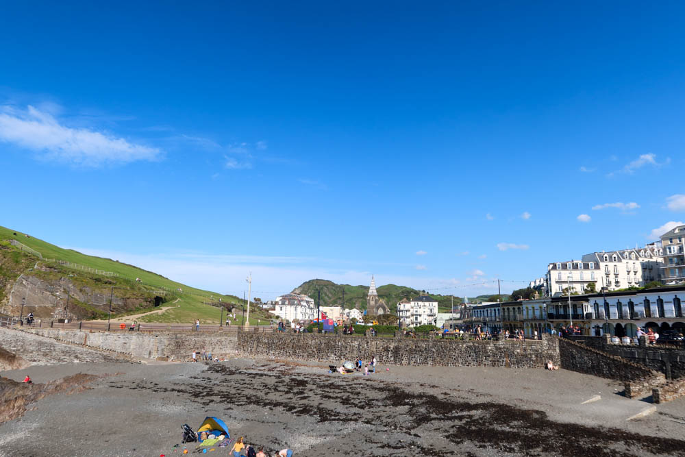 View of Ilfracombe beach and town
