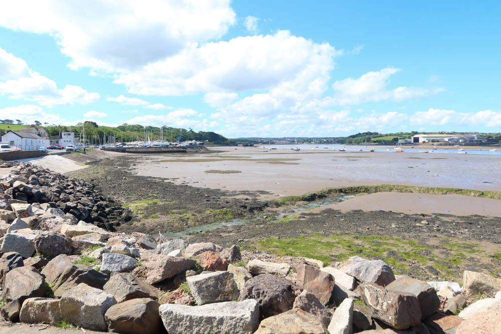 View of Instow beach right by the river
