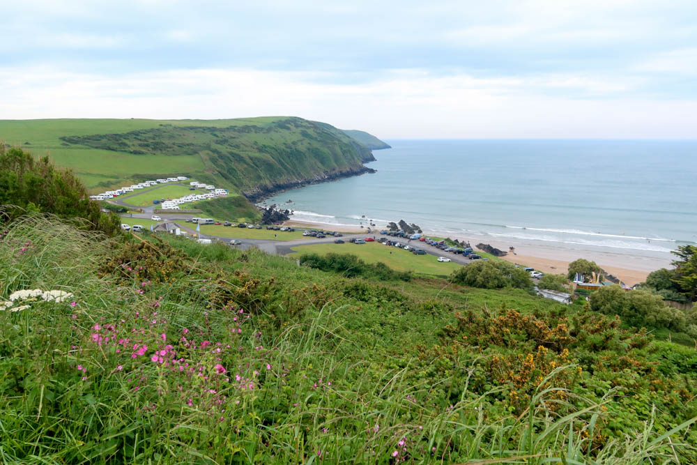View of baggy point and Woolacombe Bay