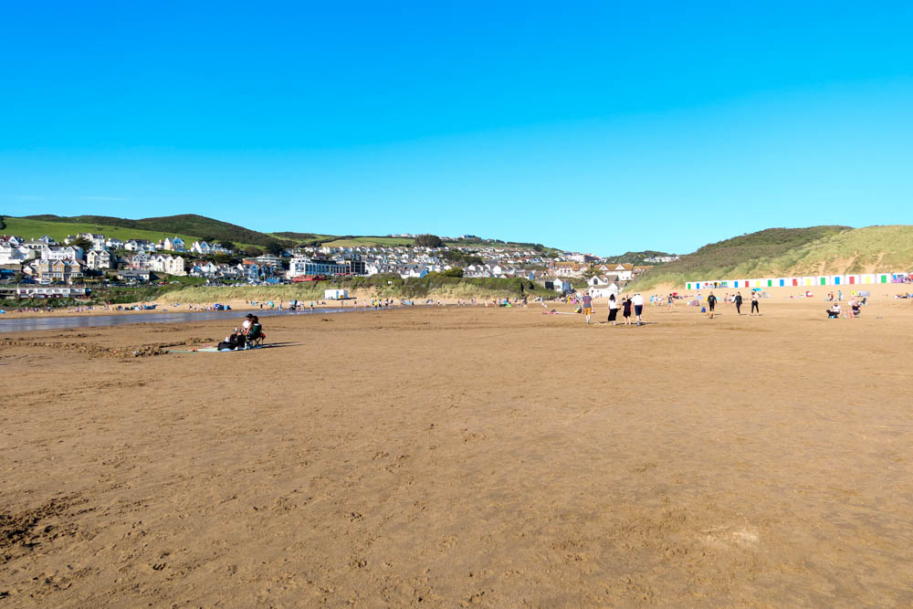View of large woolacombe beach