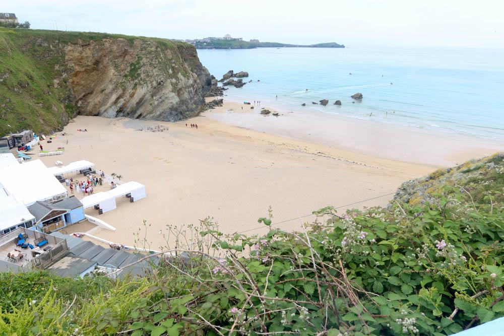 Lusty Glaze Beach in Newquay, Cornwall