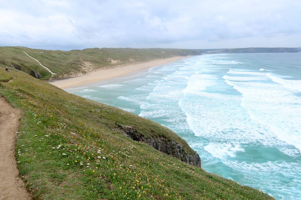 Perran Sands near Perranporth, North Cornwall