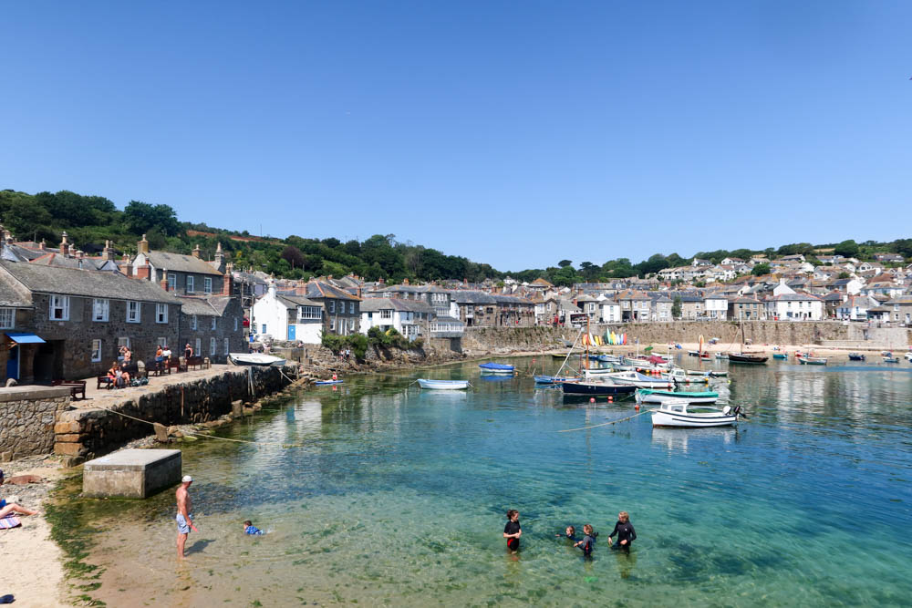 Looking Mousehole historic harbour