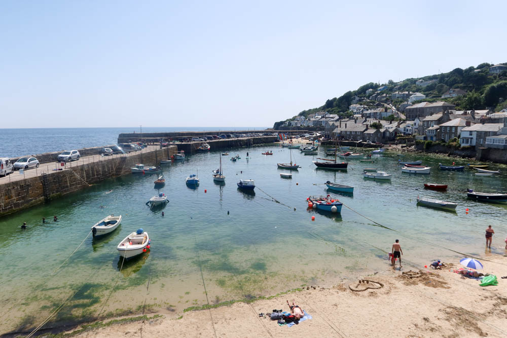 View of Mousehole beach