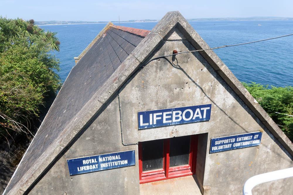 Lifeboat station in Mousehole, Cornwall