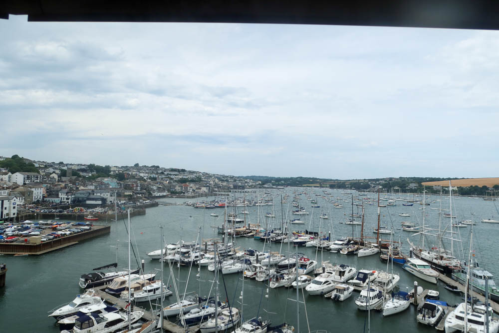 A view of the beautiful Falmouth Harbour