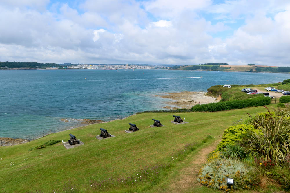 St Mawes Cannons and View