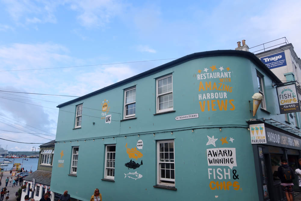 Harbour Lights famous fish and chips in Falmouth