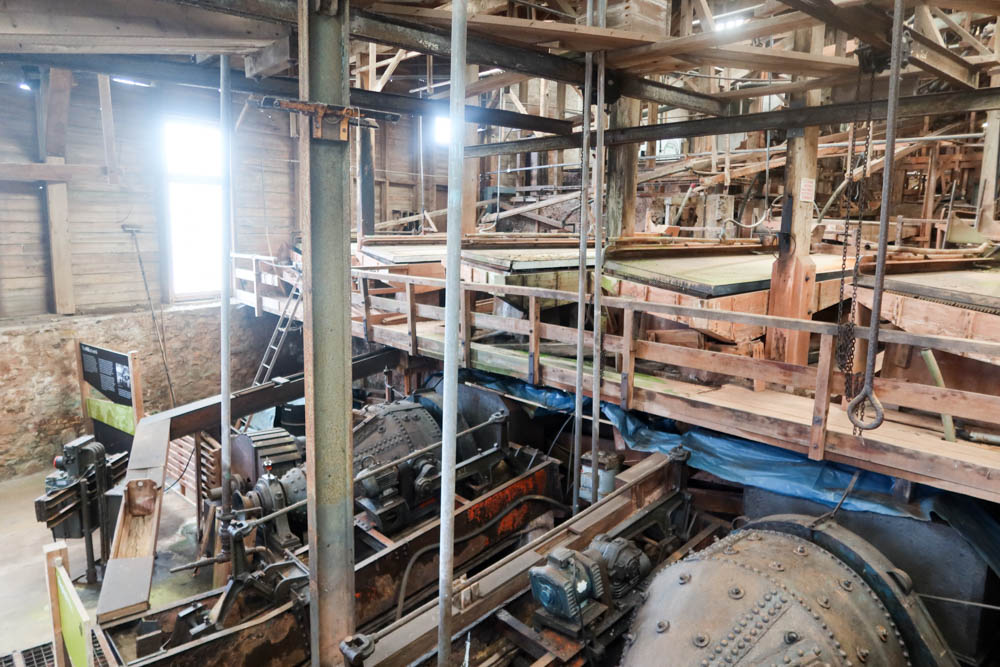 Inside of Geevor Tin Mine in Cornwall