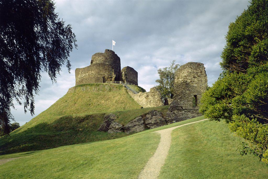 Launceston Castle on the border of Devon and Cornwall