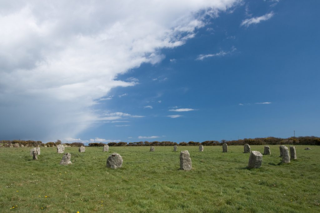 Merry maidens stone circle magaliths in Cornwall