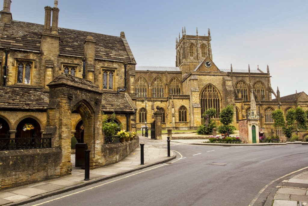 Sherborne Abbey, The Abbey Church of St. Mary the Virgin, Church in Sherborne in the English county of Dorset.