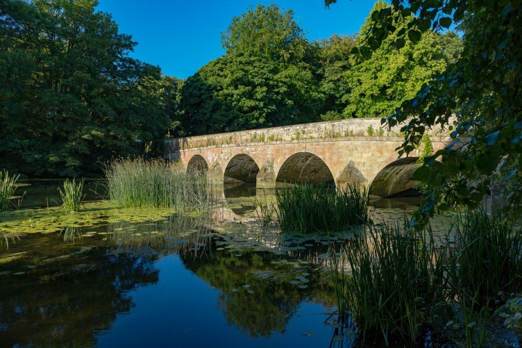 Blandford Forum Dorset England June 22, 2018 Bridge over the river Stour