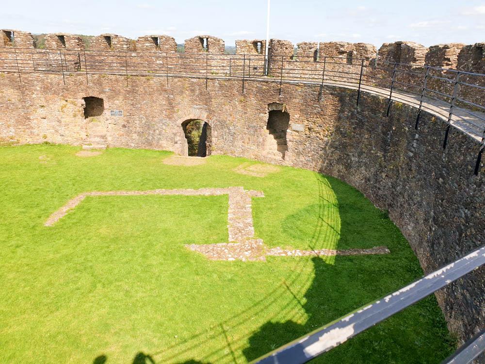 Totnes Castle from the inside