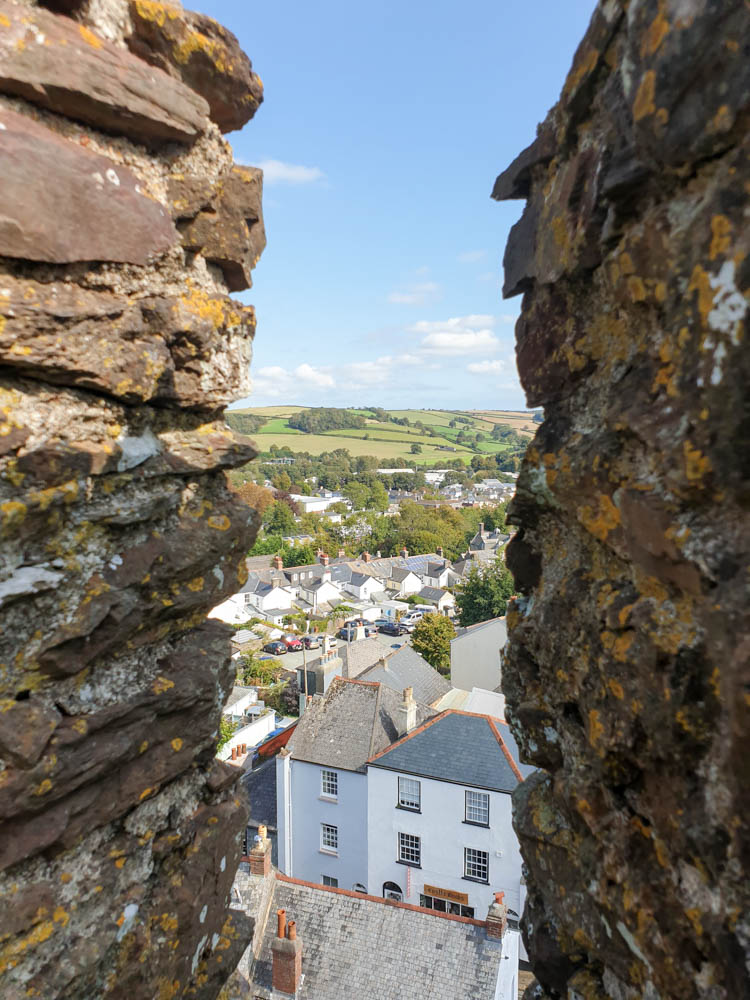 View of Totnes from castle