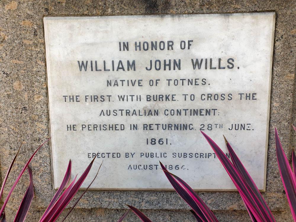 Memorial to Wills in Totnes