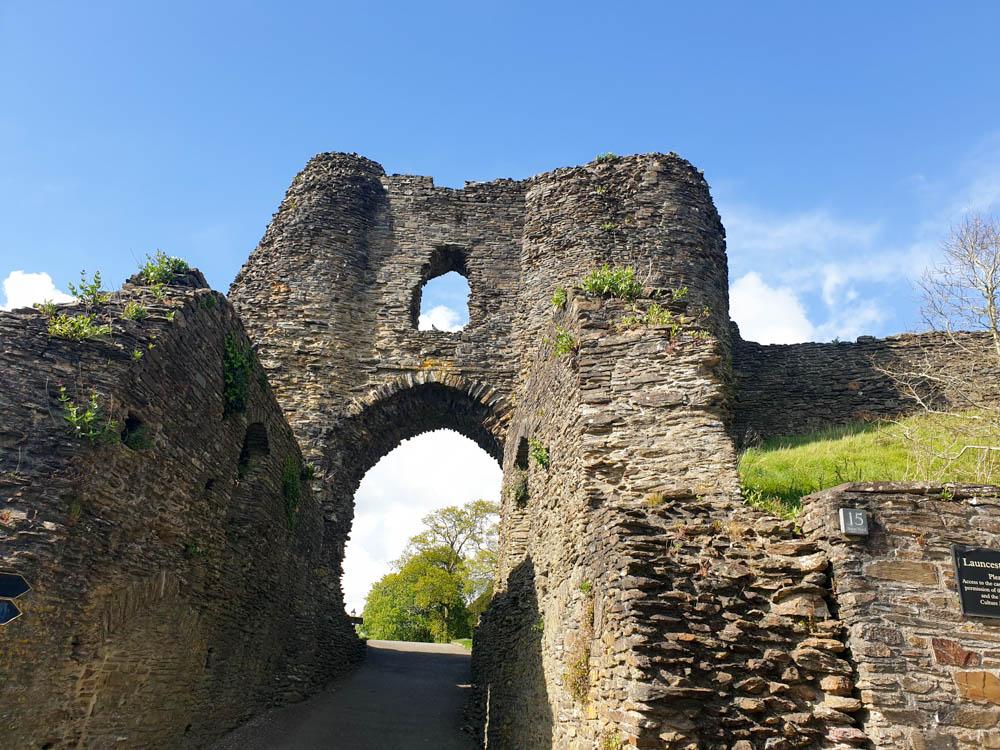 Launceston castle archway
