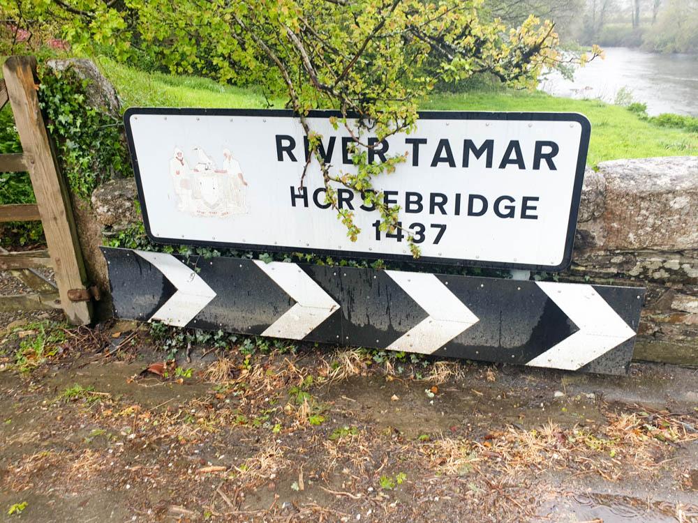 River Tamar Horsebridge Sign