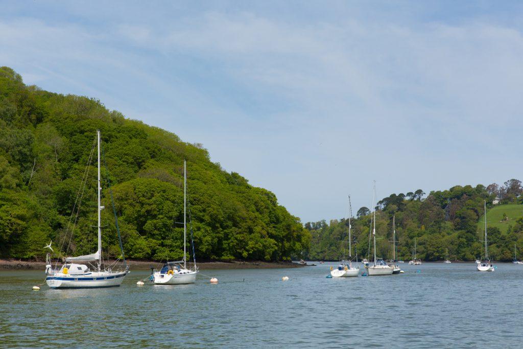 Boats on the River Dart Dartmouth Devon England UK