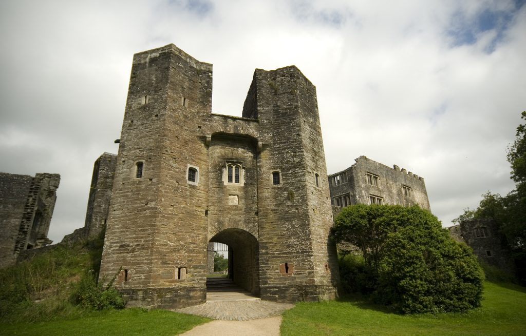 The gatehouse at Berry Pomeroy castle